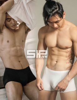 quần lót nam vải lụa sữa